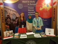 Warsaw University of Technoloy at Education Fair in Indonesia